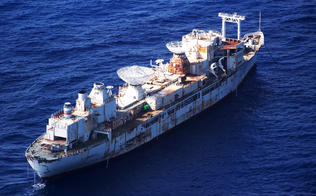 """美国""""范登堡号""""导弹追踪舰(USNS General Hoyt S. Vandenberg)"""
